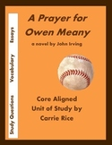 A Prayer for Owen Meany Unit: Discussion Questions, Essays