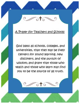 A Prayer for Teachers and Schools