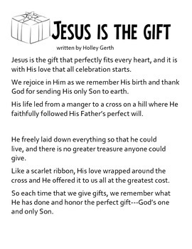 A Present for Jesus- The Wood Carver's Journey Readers' Theater Activity Packet
