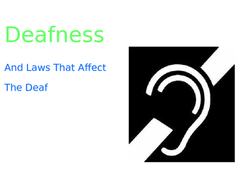 Deaf and Hard of Hearing Rights