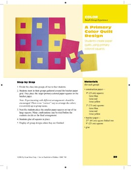 A Primary Color Quilt Design