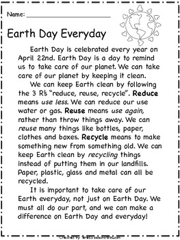 A Primary Unit All About Earth Day