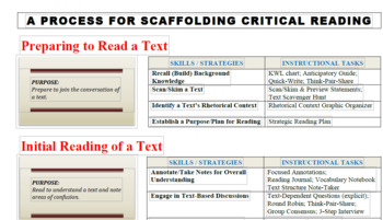 A Process for Scaffolding Critical Reading