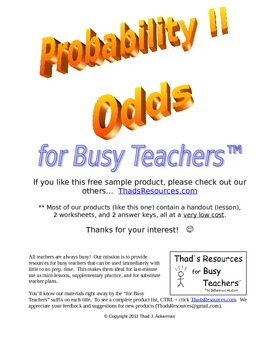 A Product List w/ Bonus Product  - Thad's Resources for Busy Teachers