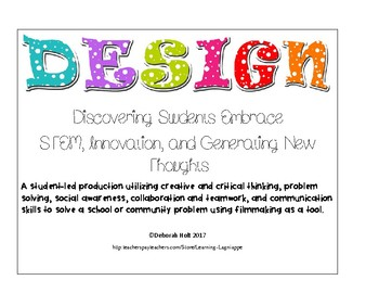 A Project Based Documentary Film Project Grades 2-4: DESIGN