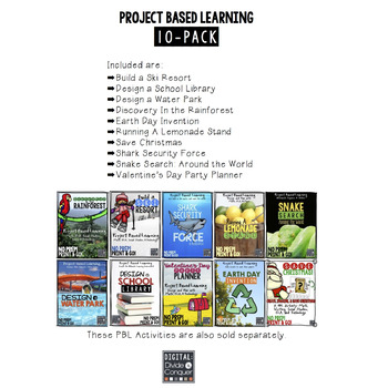 Project Based Learning Activity Bundle, 10-Pack (PBL)