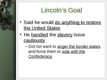 The Civil War - A Promise of Freedom PowerPoint