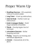 A Proper Warm Up