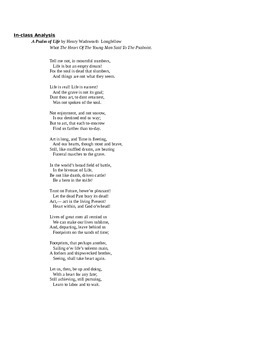 A Psalm of Life Poem Analysis