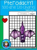 A+ Pterodactyl Dinosaur: Numbers 100 and 120 Chart