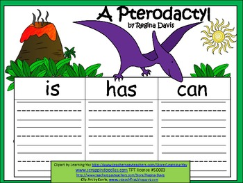 A+  Pterodactyl ... Three Graphic Organizers