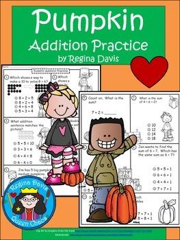 A+  Pumpkin: Addition Practice