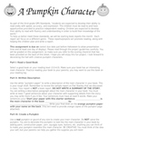 A Pumpkin Character Book Project
