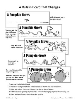 A Pumpkin Grows: Bulletin Board