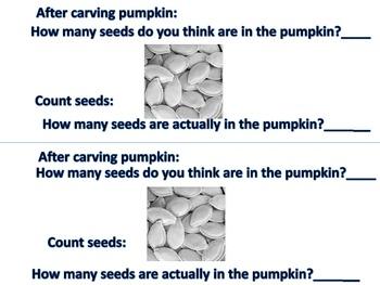 A Pumpkin Math Book Pumpkin Day Activity