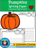 A+ Pumpkin Writing Paper
