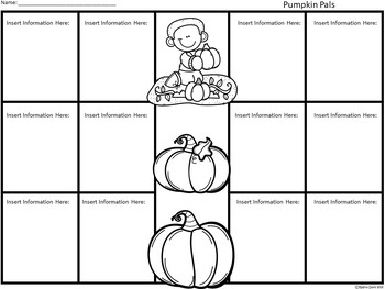 A+ Pumpkins: Easy Plans...Editable Papers for Pumpkin Season