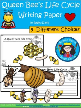 A+ Queen Bee Life Cycle ... Writing Paper