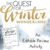 A Quest for Winter Wonderland **Editable** Math Review Roo