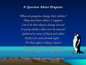 A Question About Penguins-poem (PowerPoint)