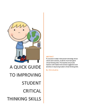 A Quick Guide To Improving Student Critical Thinking Skills