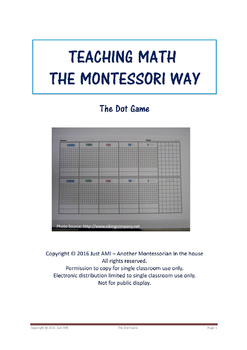 Teaching Math the Montessori Way - The Dot Game