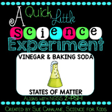 A Quick Little Science Experiment: Baking Soda & Vinegar {NGSS 2-PS1-1}