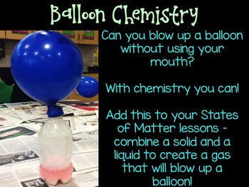 A Quick Little Science Experiment: Balloon Chemistry {NGSS 2-PS1-1}