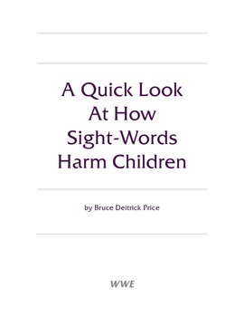 A Quick Look At How Sight-Words Harm Children