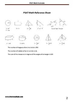 A Quick Review and a complete list of PSAT Math Formulas