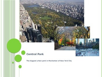 A Quite Introduction to Central Park with Complex Text (Whole-Language Approach)