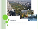 A Quick Introduction to Central Park with Complex Text (Whole-Language Approach)
