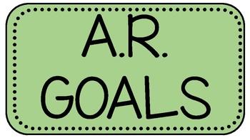 A.R. Clip Chart Goal Tracker