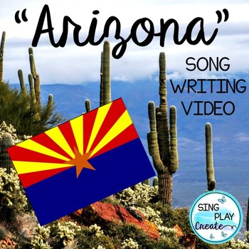 """ARIZONA State Facts Song and Literacy Activities: """"A-R-I-Z-O-N-A"""" Video"""