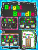 A.R. Points - Caddies Labels - Fluency Chart - Spanish-English Word Wall Bundle