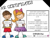 A.R. Reward Certificates