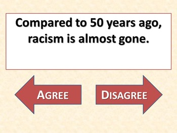 A RAISIN IN THE SUN - Agree or Disagree Pre-reading Activity