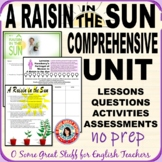 A RAISIN IN THE SUN Comprehensive Unit NO-PREP Digital-Enabled