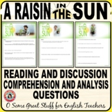A RAISIN IN THE SUN Comprehension and Analysis Questions B