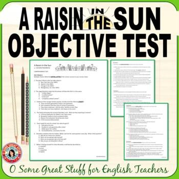 A RAISIN IN THE SUN Comprehensive Final Test