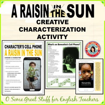 A RAISIN IN THE SUN Creative Characterization Activity