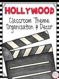 Hollywood Classroom Theme Decor EDITABLE