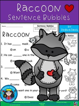 A+ Raccoon: Fill In the Blank.Multiple Choice Sight Word Sentences
