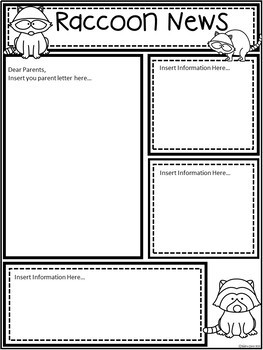 A+ Raccoon: *EDITABLE* Papers For Teacher News and Notes To Parents