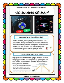 A Race Through Space with Dr. Seuss: Sound Station