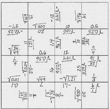 A Radical Puzzle for Practicing Basic Square Roots