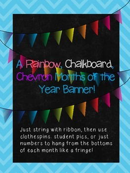 A Rainbow, Chalkboard, Chevron, Months of the Year, Birthd