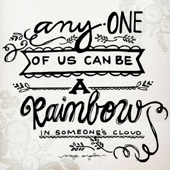 """A Rainbow In Someone's Cloud"" - Graphic for Classroom Needs or Blog Posts"
