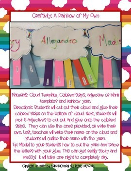A Rainbow Of My Own: Craftivity and Writing