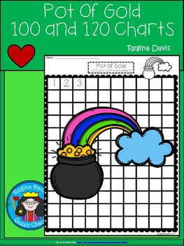 A+ Rainbow With A Pot Of Gold: Numbers 100 and 120 Chart